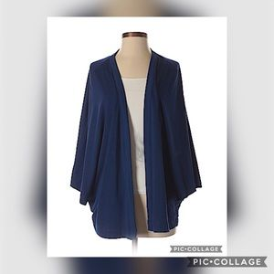EUC Serena Williams Sheer Blue Cardigan - XL
